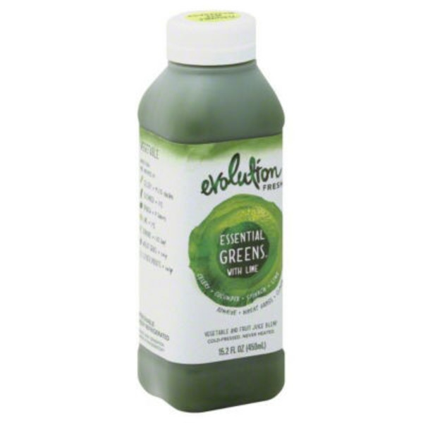 Evolution Fresh Essential Greens With Lime  Vegetable and Fruit Juice Blend