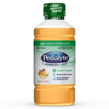Pedialyte AdvancedCare Electrolyte Solution with PreActiv Prebiotics, Electrolyte Drink, Tropical Fruit, 35 fl oz