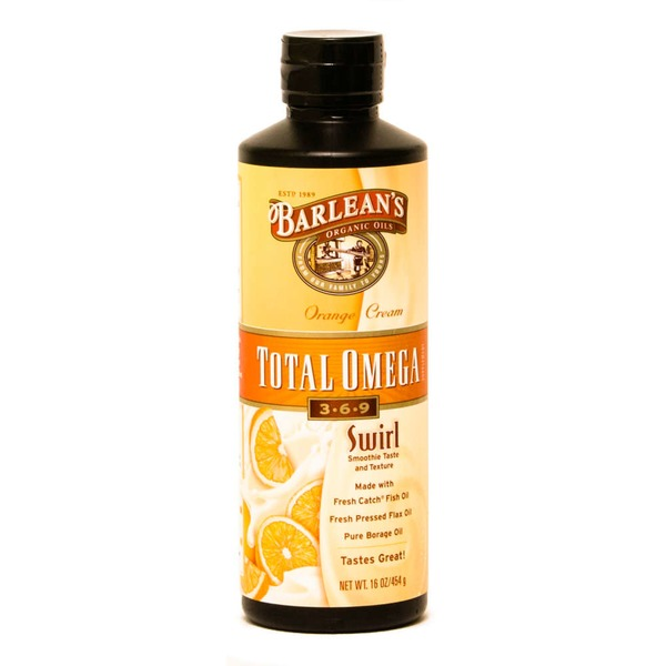 Barlean's Orange Cream Total Omega 3-6-9 Supplement