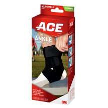 ACE Deluxe Ankle Stabilizer, One Size Adjustable, Black, 1/pack