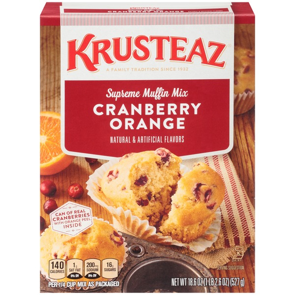 Krusteaz Cranberry Orange Supreme Muffin Mix