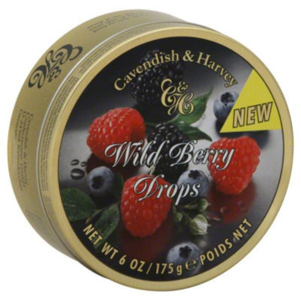Cavendish & Harvey Fruit Drops Wild Berry In Tin