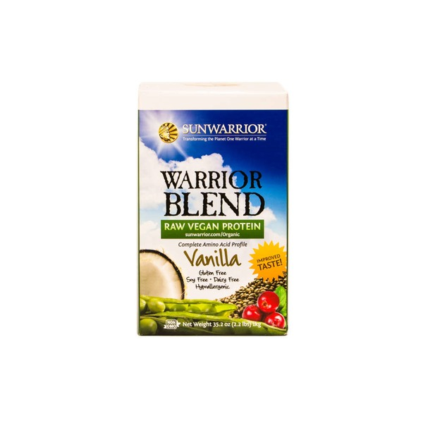 Sunwarrior Warrior Blend Vanilla Raw Vegan Protein