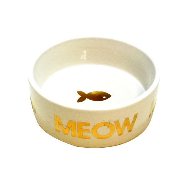 Harmony Gold Meow Ceramic 1 Cup Cat Bowl