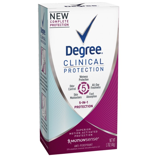 Degree 5 in 1 Clinical Antiperspirant Deodorant Cream