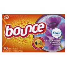 Bounce Dryer Sheets with Febreze, Spring & Renewal, 70 Sheets
