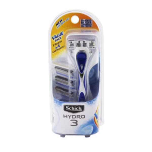 Schick Hydro Hydro 3 Razor Handle/Cartridges