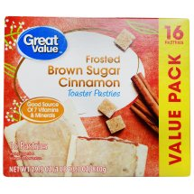 Great Value Frosted Toaster Pastries, Brown Sugar Cinnamon, 29.3 oz, 16 Count