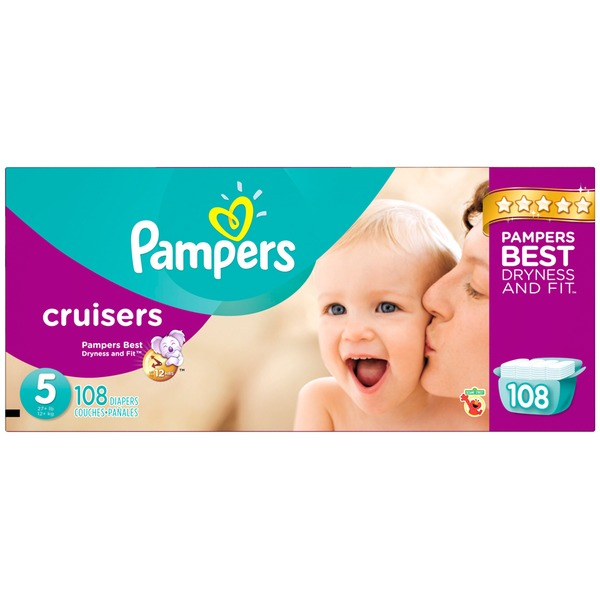 Pampers Premium Pampers Cruisers Diapers Size 5 108 count  Diapers