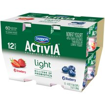 Activia Strawberry/Blueberry 4 Oz Activia Light Fat Free Yogurt