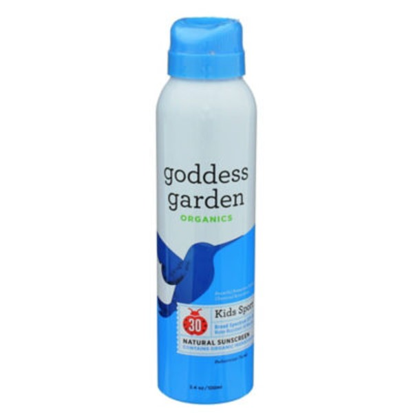 Goddess Garden Sunscreen, Natural, Kids Sport, Broad Spectrum SPF 30