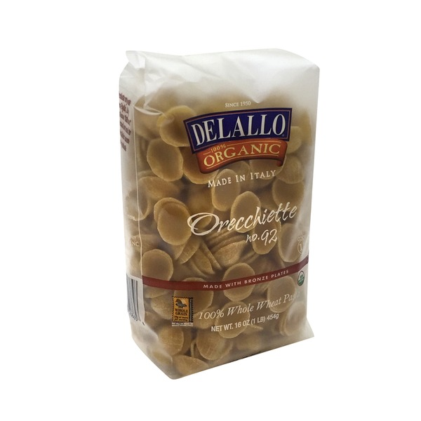 DeLallo Pasta, Whole Wheat, Orecchiette No. 92