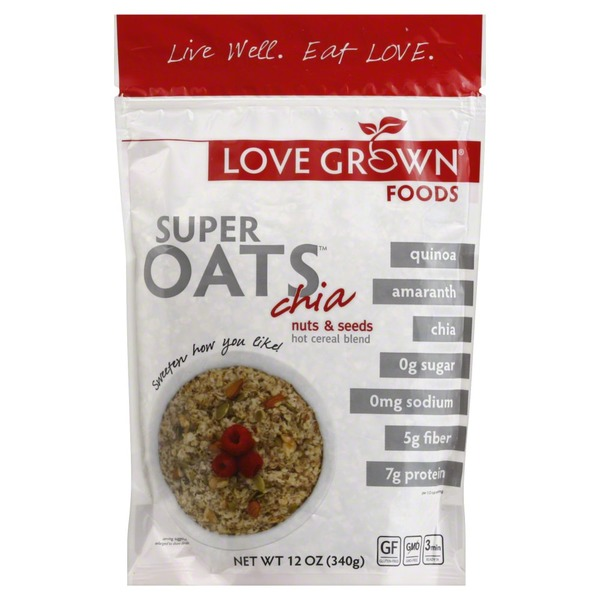 Love Grown Hot Cereal Blend, Chia, Nuts & Seeds