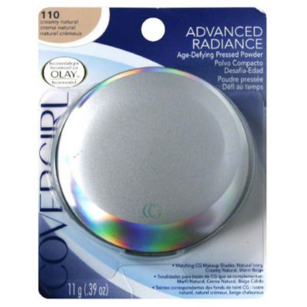 CoverGirl Advanced Radiance COVERGIRL Advanced Radiance Age-Defying Pressed Powder, Creamy Natural .39 oz (11 g) Female Cosmetics