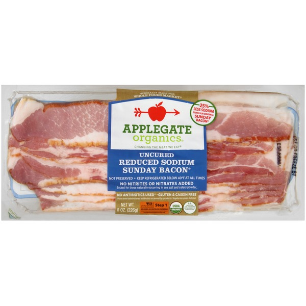 Applegate Organic Reduced Sodium Sunday Bacon