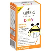 Zarbee's Naturals Baby Immune Support & Vitamins, Natural Orange Flavor Dietary Supplement