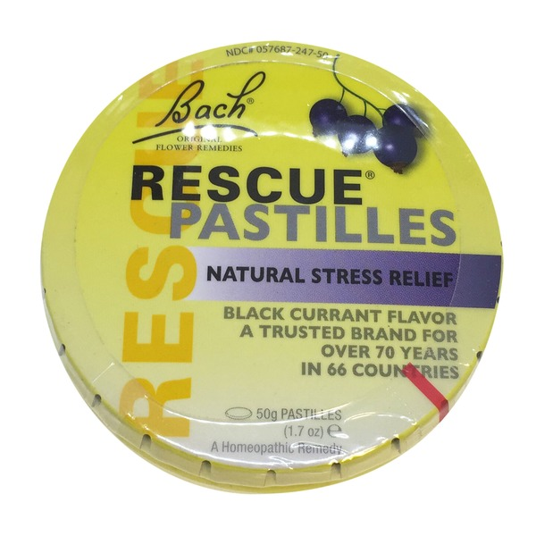 Bach Natural Stress Relief, Pastilles, Black Currant Flavor