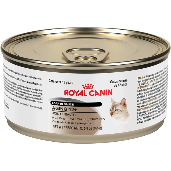 Royal Canin Feline Health Nutrition Aging 12+ Joint Health Loaf In Sauce Canned Cat Food