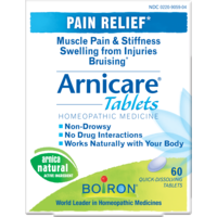Boiron Arnicare Tablets Pain Relief Homeopathic Medicine - 60 CT