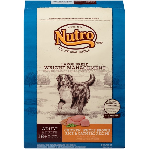 Nutro Large Breed Weight Management Adult Chicken Whole Brown Rice & Oatmeal Recipe Dog Food