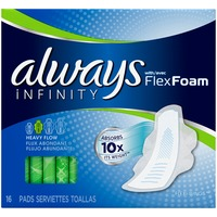 Always Infinity Always Infinity Super Pads with Wings 16 ct Feminine Care
