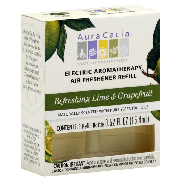 Aura Cacia Air Freshener Refill, Electric, Refreshing Lime & Grapefruit