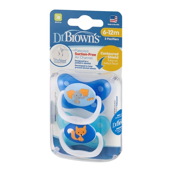 Dr Brown's Pacifiers (6-12m) - 2 CT