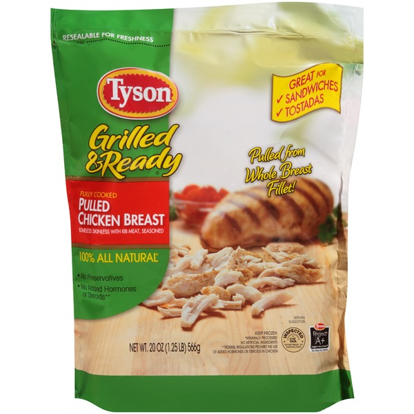 Tyson Grilled And Ready Fully Cooked Pulled Chicken Breast