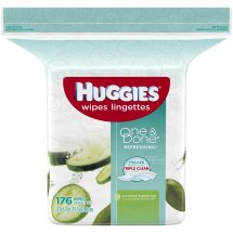 Huggies One & Done® Refreshing Cucumber & Green Tea Baby Wipes, Refill (176 count)