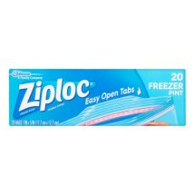 Ziploc Pinch & Seal Freezer Bags, Pint, 20 Ct