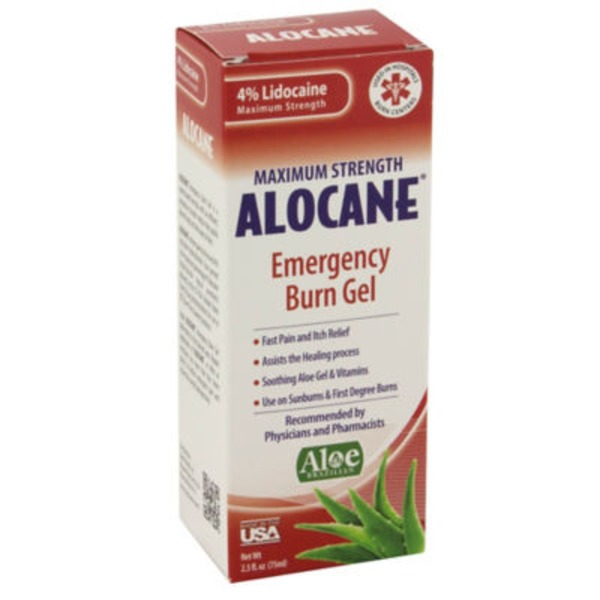 Alocane Burn Gel, Emergency, Maximum Strength, 4% Lidocaine