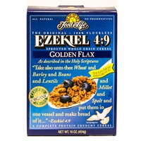Food for Life Fit For Life Ezekiel 4:9 Sprouted Whole Grain Cereal Golden Flax