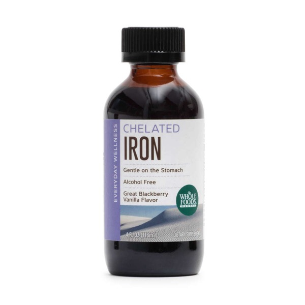 Whole Foods Market Chelated Iron Great Blackberry Vanilla Flavor