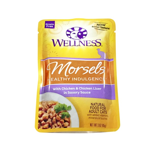 Wellness Cat Pouch Morsel Chicken Cheese Liver