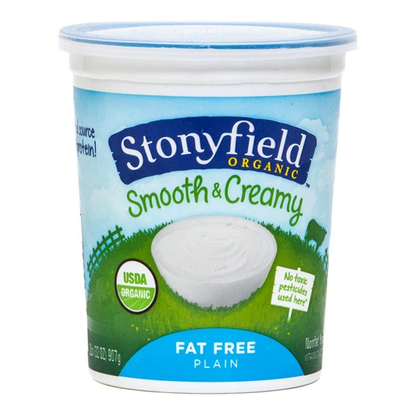 Stonyfield Organic Organic Greek Plain Nonfat Yogurt