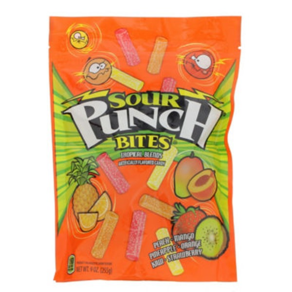 Sour Punch Bites Tropical Blends
