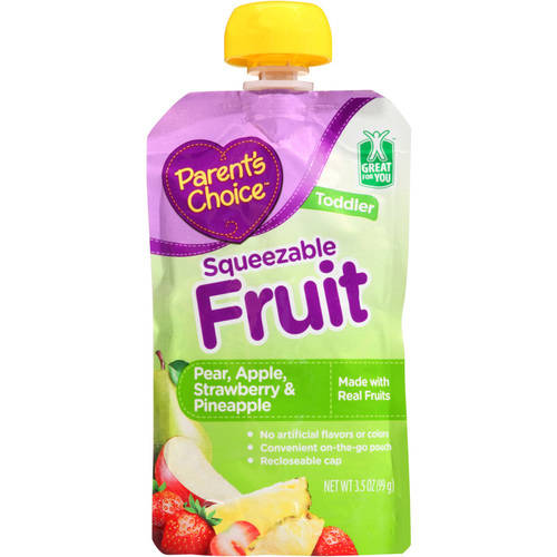 Parent's Choice Pear Apple Strawberry & Pineapple Squeezable Fruit Puree