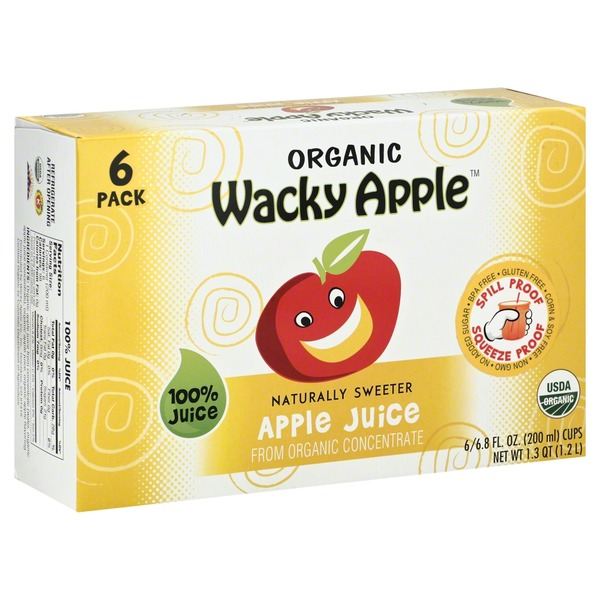 Wacky Apple 100% Juice, Organic,  Apple Juice