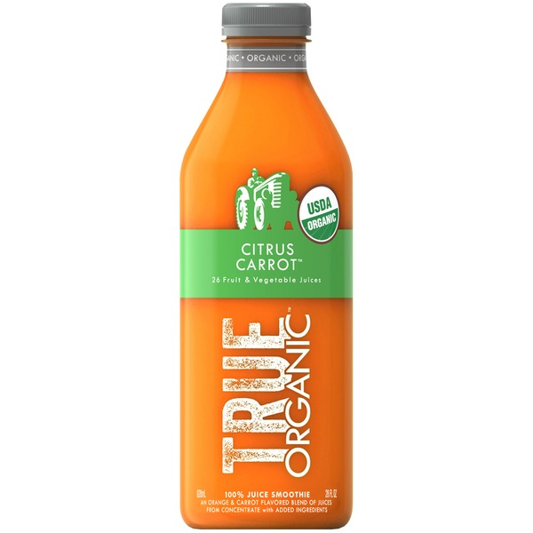 True Organic Citrus Carrot 100% Juice Smoothie
