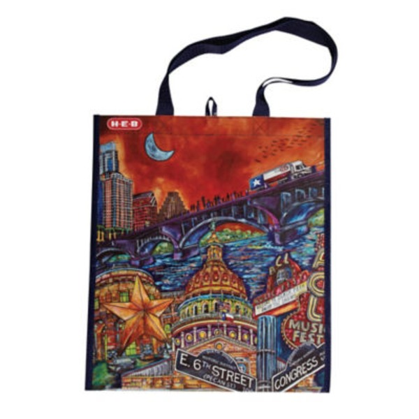 H-E-B Austin Artist Reusable Shopping Bag
