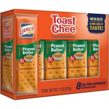 Lance Sandwich Crackers, Reduced Fat Toastchee, 8 Ct