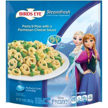 Birds Eye® Steamfresh® Disney Frozen Pasta & Peas with a Parmesan Cheese Sauce 10 oz. Bag