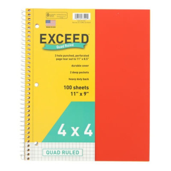 Norcom Exceed Quad Notebook 11 X 9
