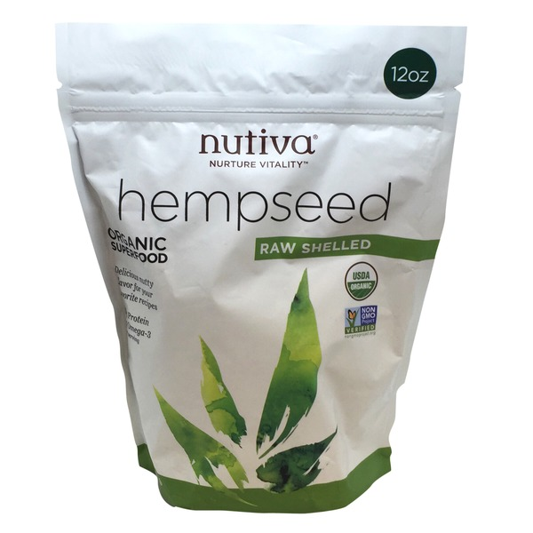 Nutiva Hemp Seed, Organic, Raw Shelled