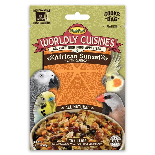Higgins Wordly Cuisines African Sunset Gourmet Bird Food For All Birds
