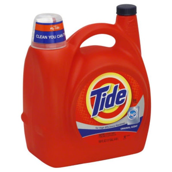 Tide Original Scent HE Turbo Clean Liquid Laundry Detergent, 150 oz, 96 loads Laundry