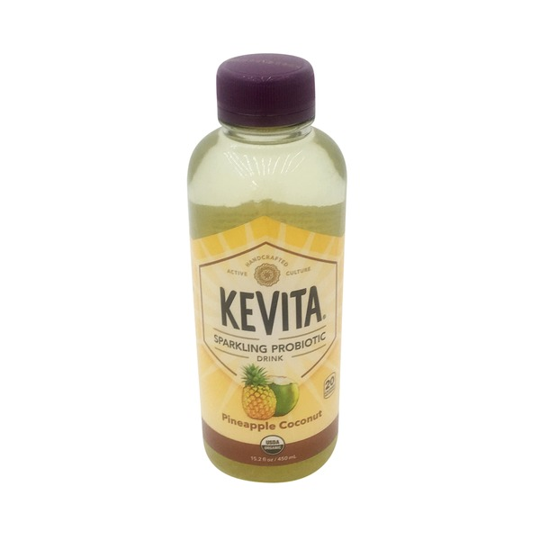 KeVita Probiotic Drink, Sparkling, Pineapple Coconut