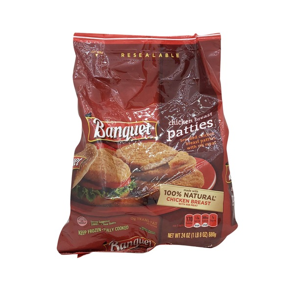 Banquet Family Pack Chicken Breast Patties