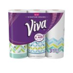 Viva Paper Towels, Full Sheet, Winter Print, 3 Big Rolls