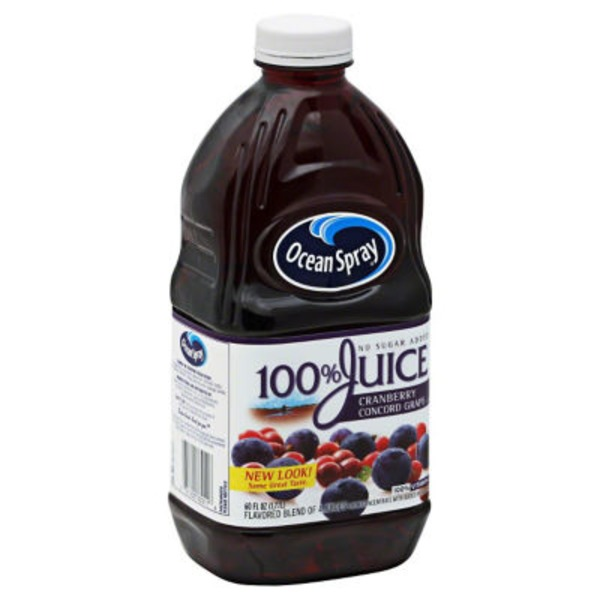 Ocean Spray Cranberry Concord Grape Flavor 100% Juice
